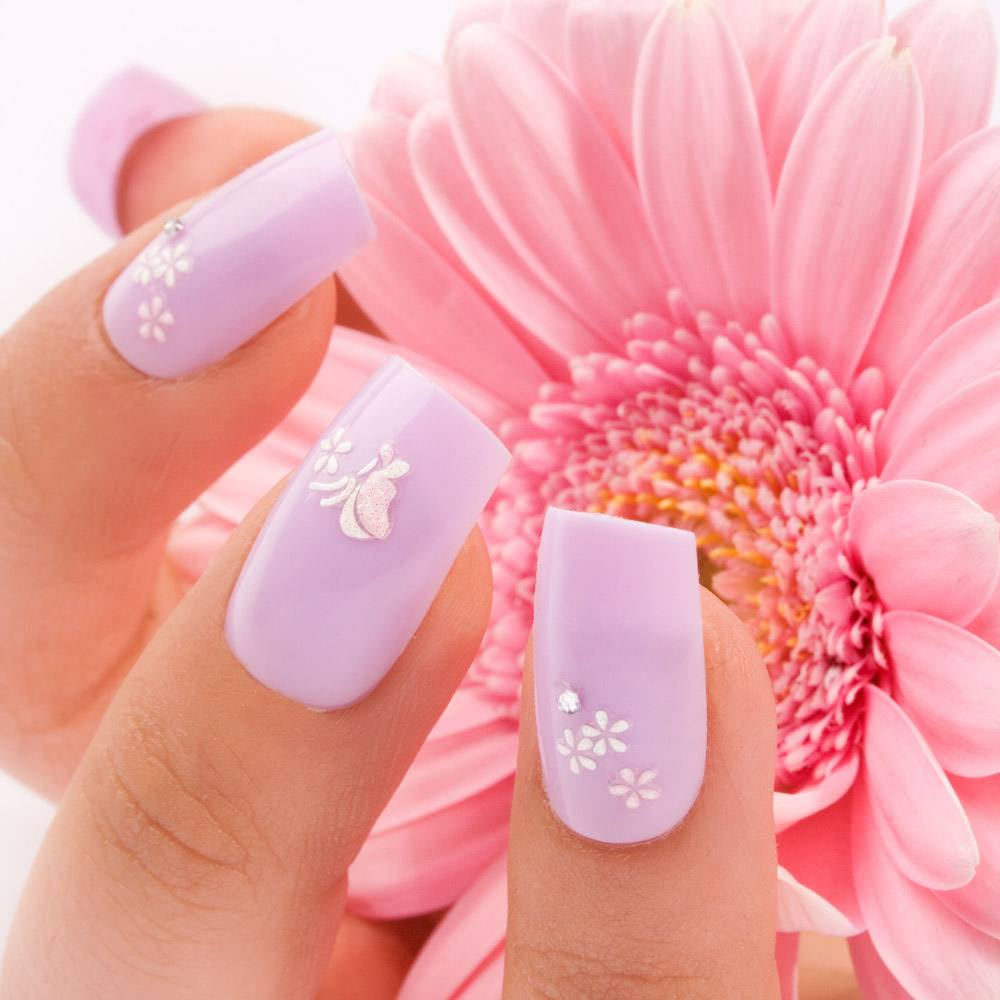 Purple Spring Nails