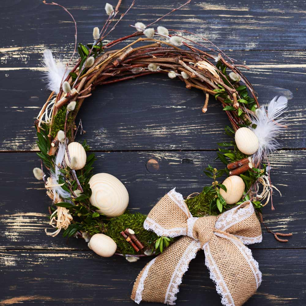 Easter Wreath with Bow
