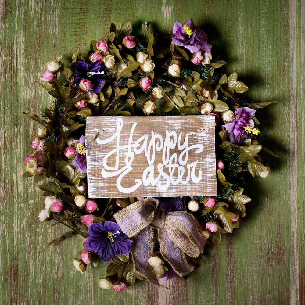 Easter Wreath with Lettering