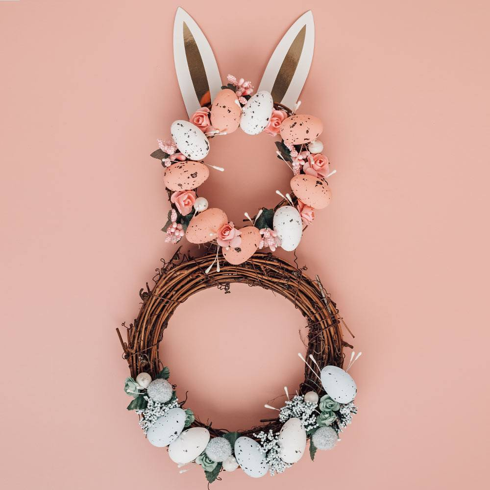 Easter Wreath with Rabbit Ears