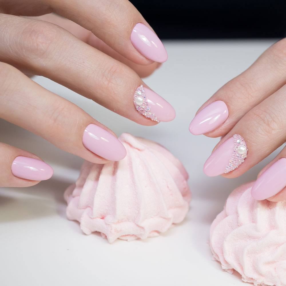 Cute Pink Prom Nails
