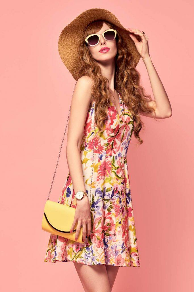 Short Summer Floral Dress