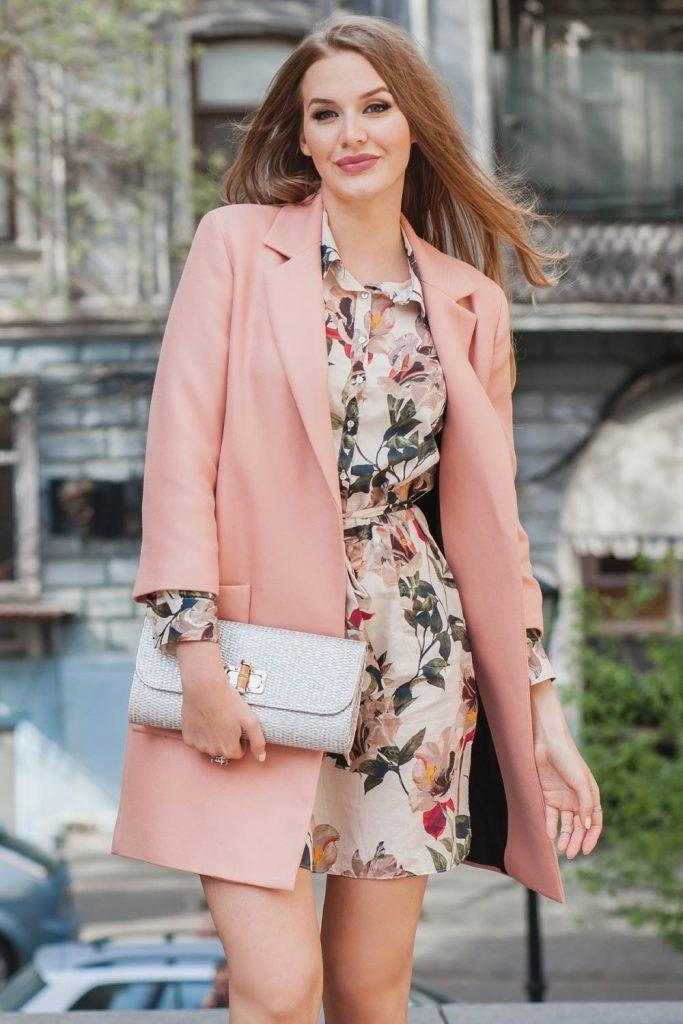 Floral Dress with Blazer Outfits