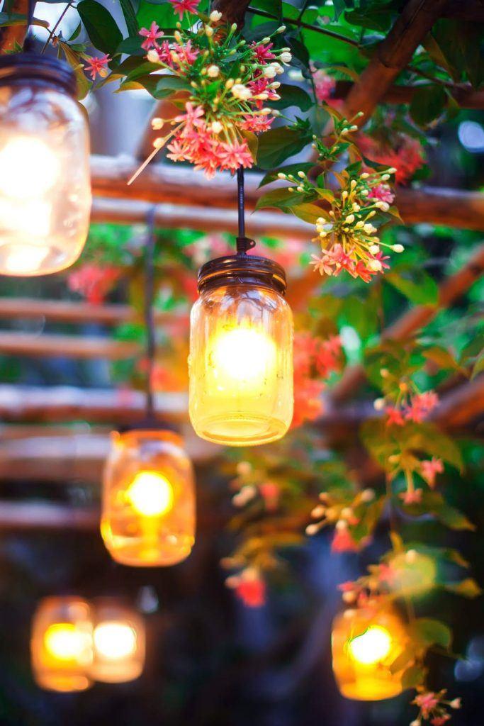 Candle Jar Decoration Idea