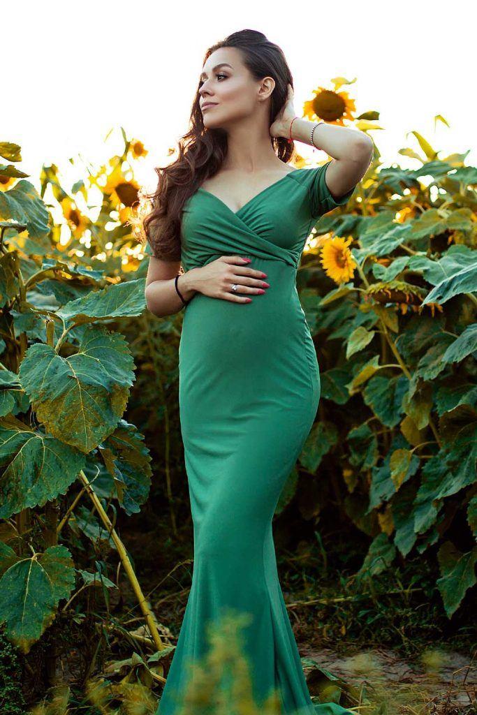Green Mermaid Maternity Dress