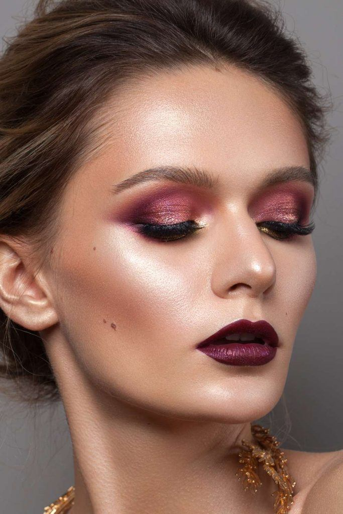 Burgundy Makeup Idea