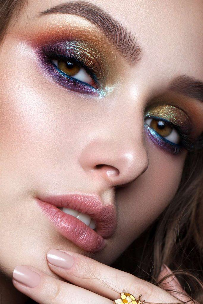 Colorful Eyeshadows Makeup for Prom Night
