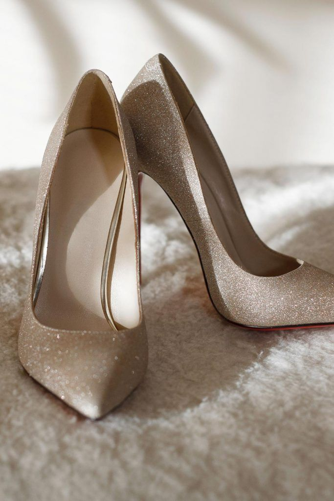 Silver Sparkly Prom Heels
