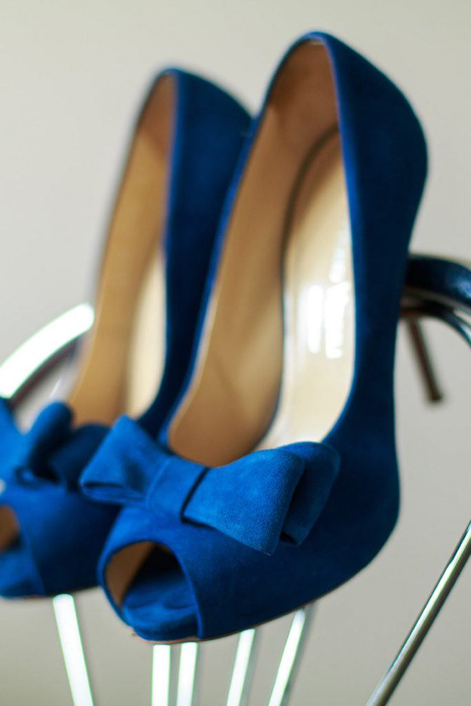 Blue High Heels for Prom