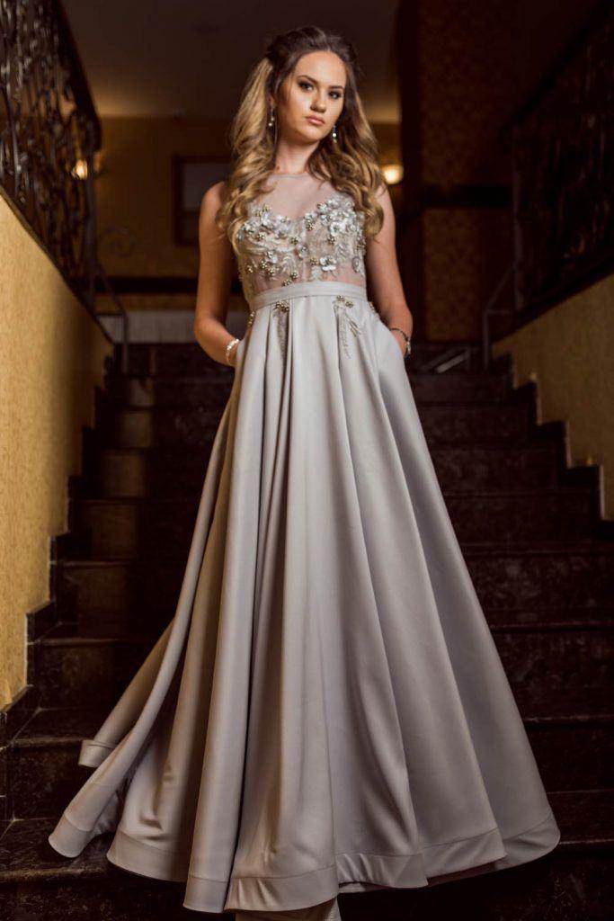 Silver Dress Design