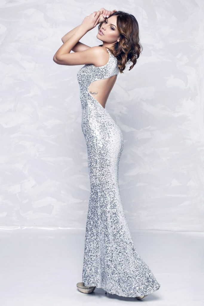 Silver Mermaid Dress for Prom