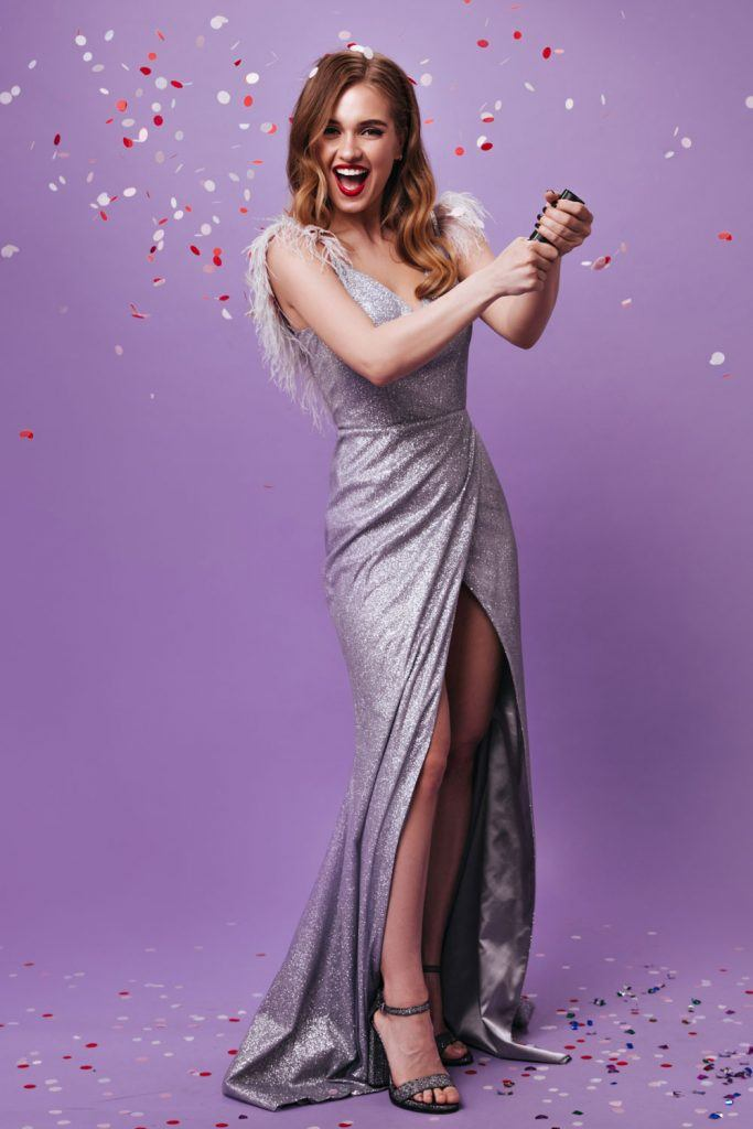 Long Silver Dress for Prom