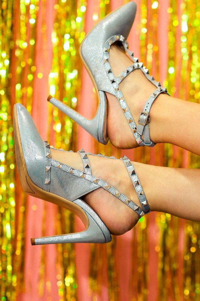 Silver Narrow Points for Prom