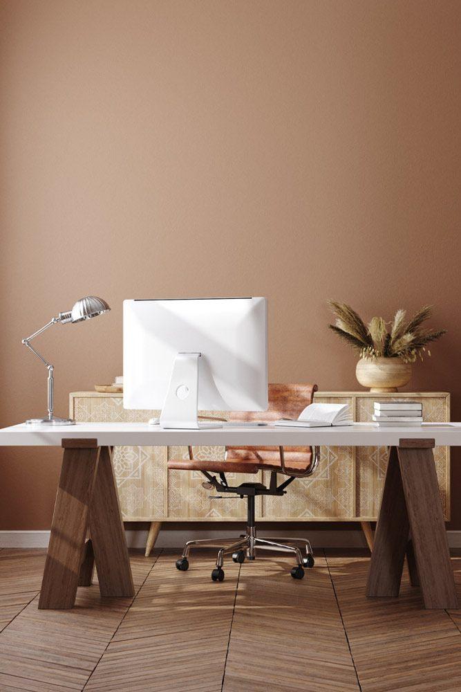 Boho Style Home Office Decoration