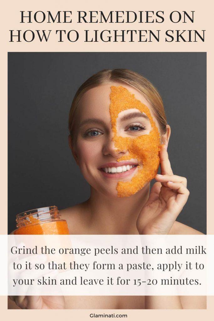 Orange Mask Mask To Lighten Skin
