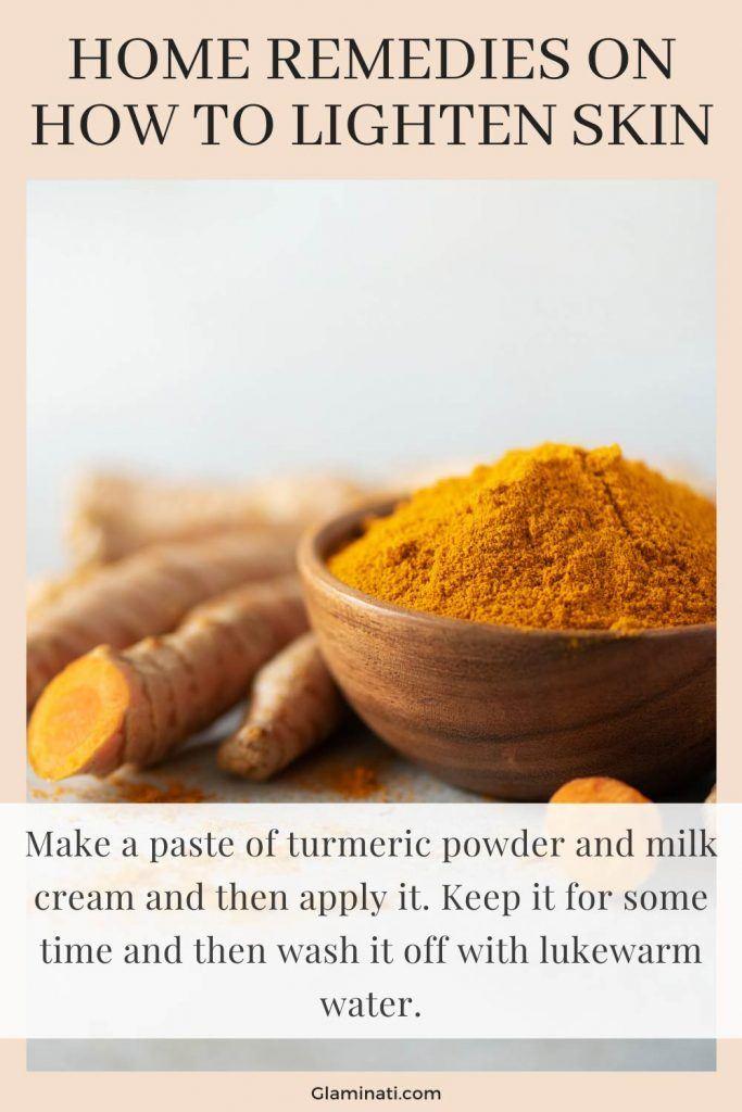 Turmeric Mask To Lighten Skin