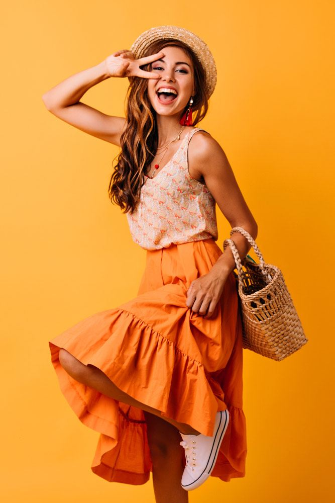Summer Outfits with Long Skirt