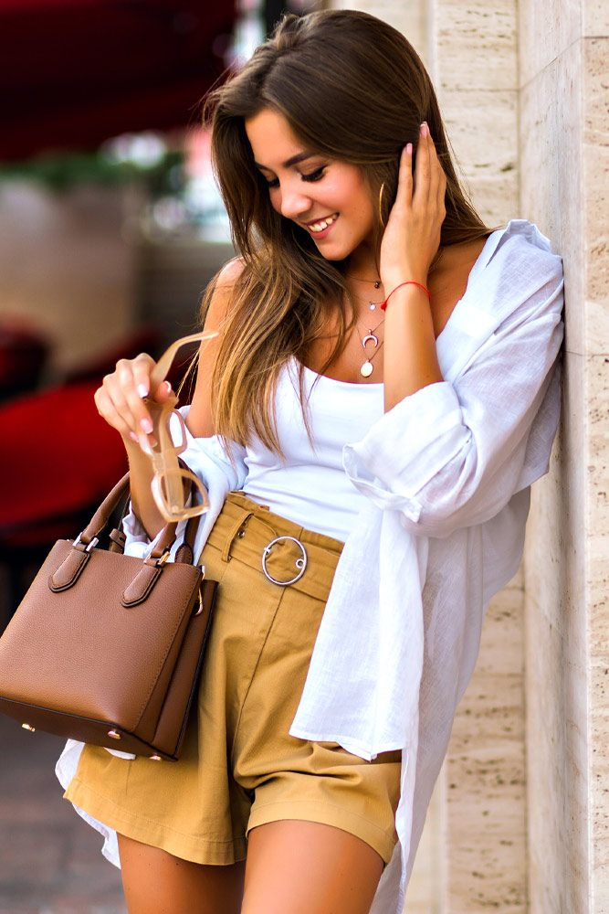 Summer Outfits with Shorts, Top and Shirt