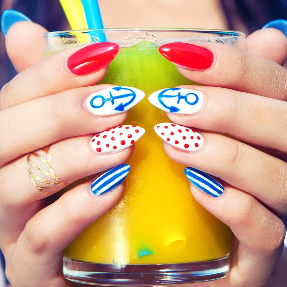 Sea Themed Summer Nails
