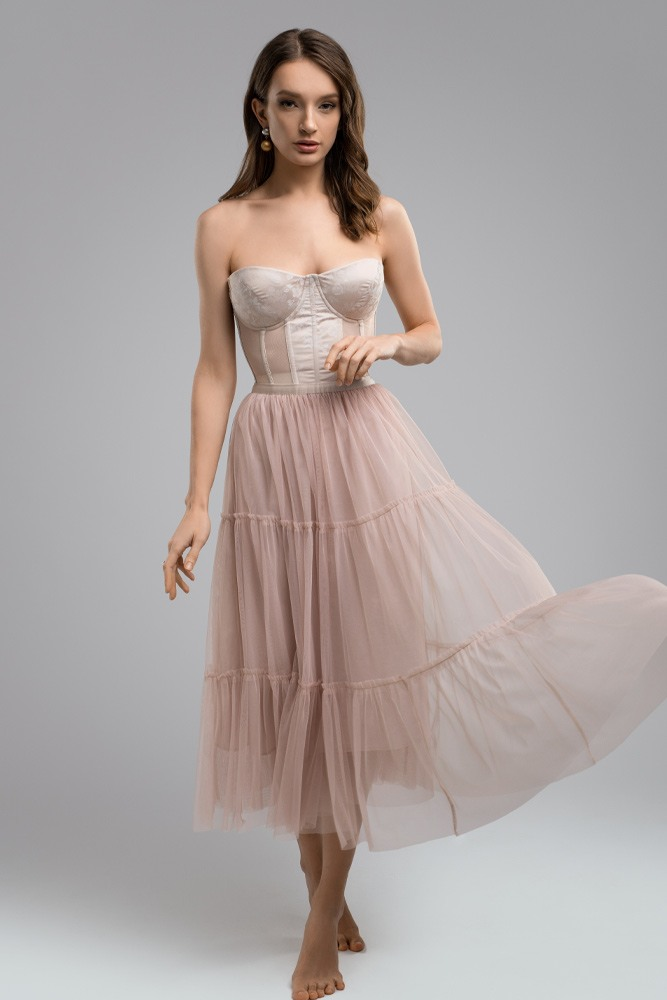 Off The Shoulder Dress with Corset