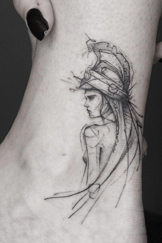 Warrior Tattoo Design