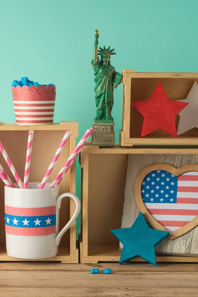 4th of July Theme Table Decorations