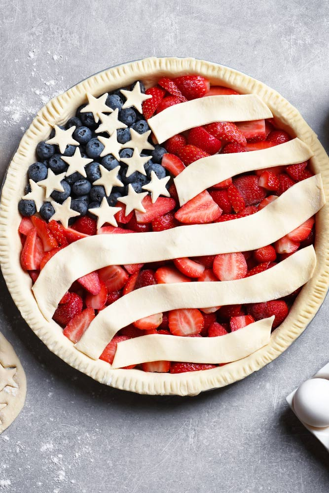4th of July Pie Decoration