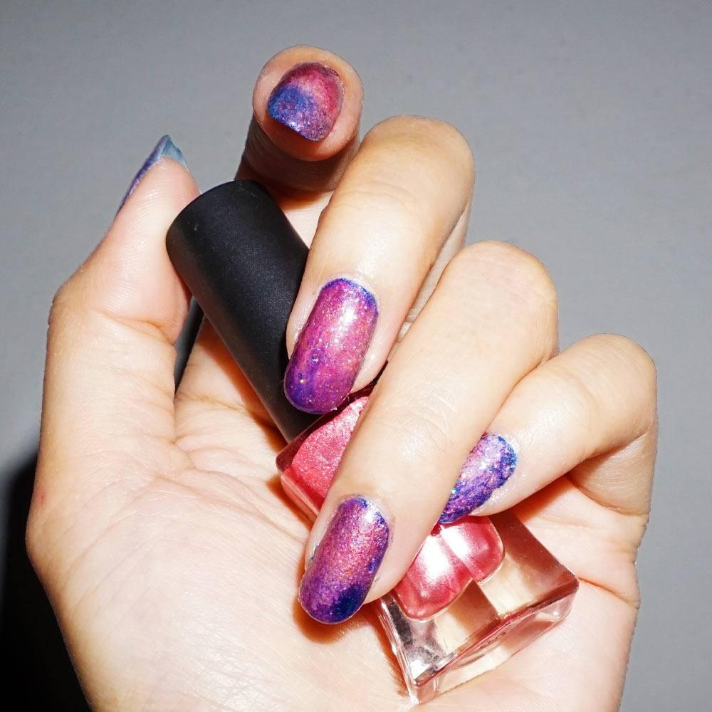Easy Galaxy Nails Design