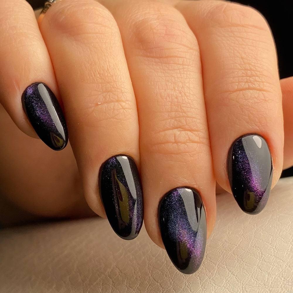 Cat Eye Galaxy Nails