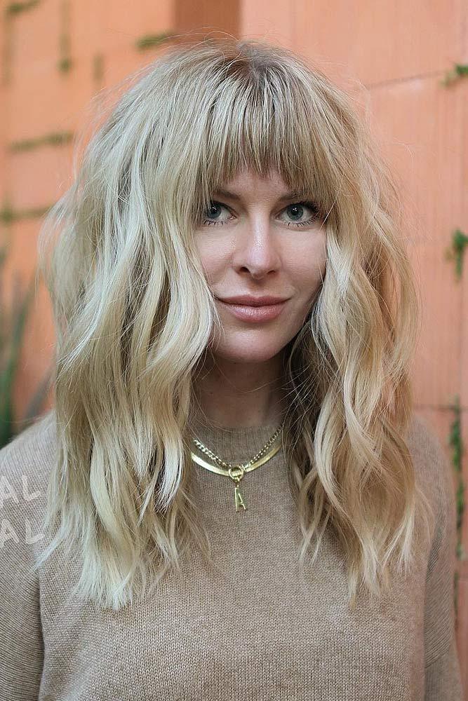 Blonde Long Hair with Bangs