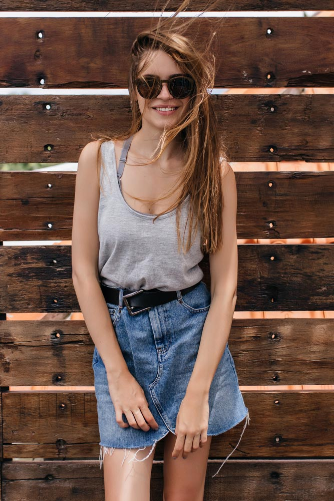 Casual Outfits with Denim Mini Skirt