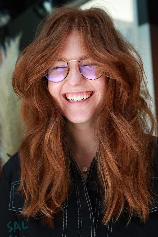 Long Red Wavy Hair