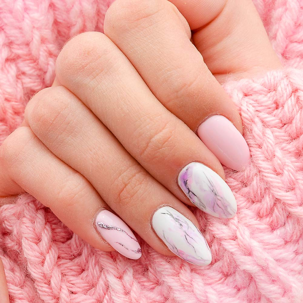 Marble Pink Nails