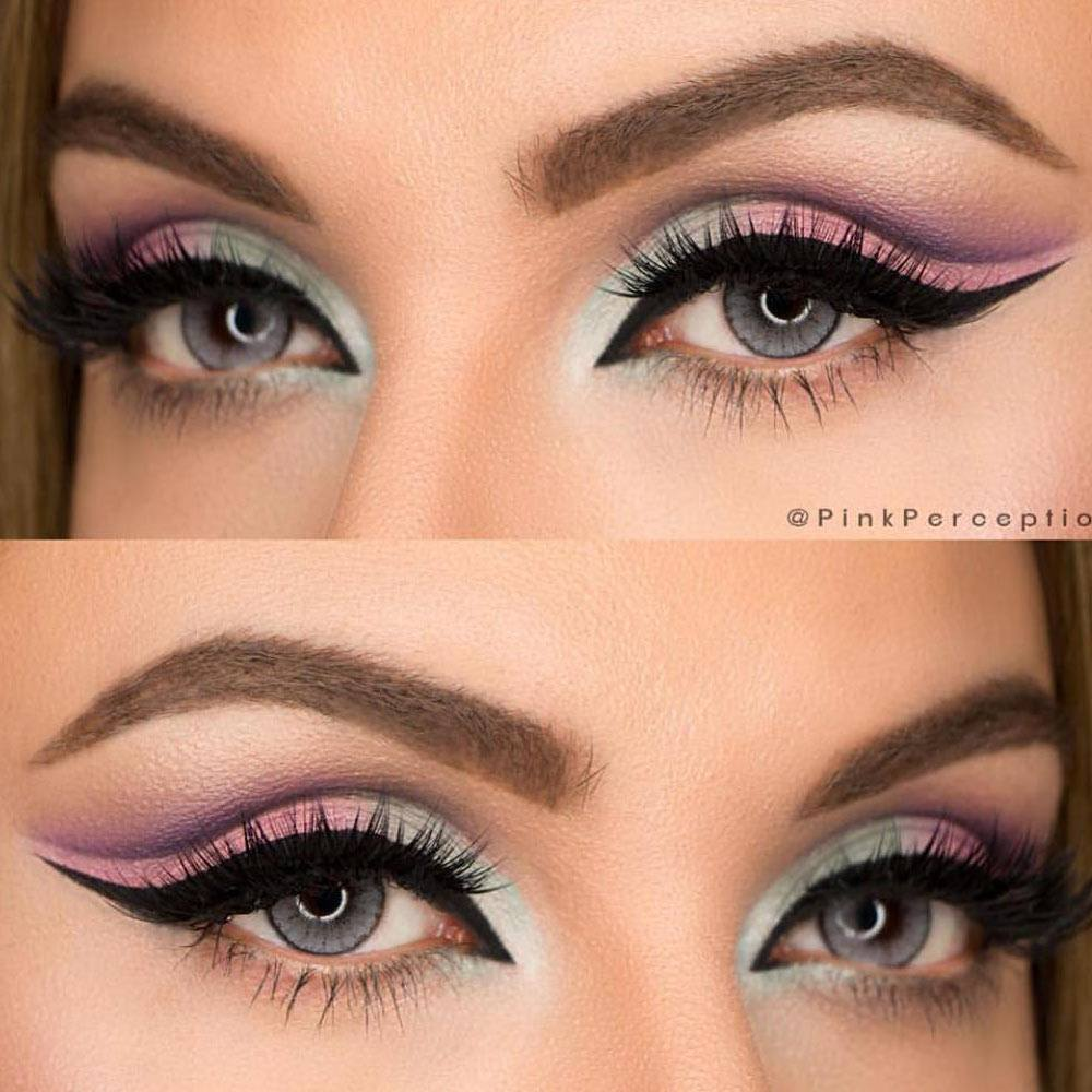 Green and Pink Makeup For Summer