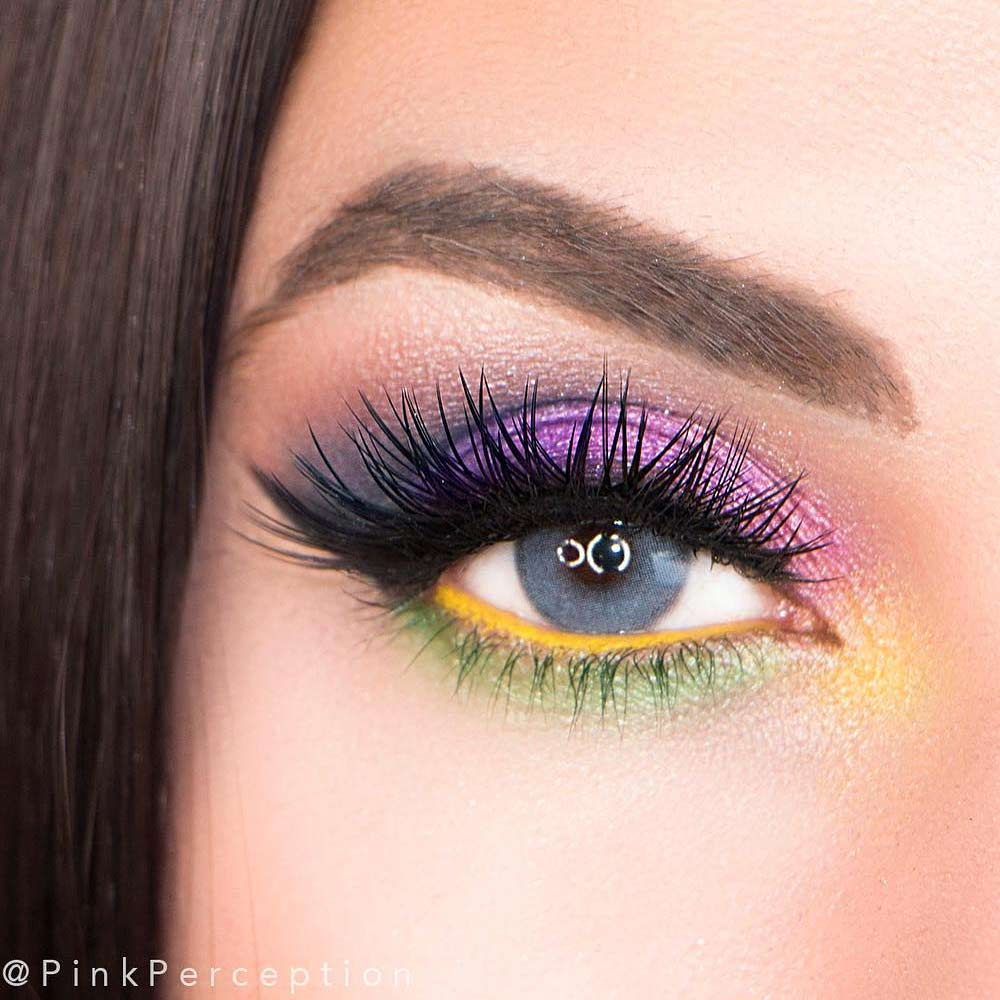 Colorful Eyeshadows Makeup Idea