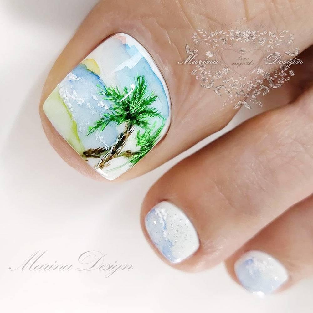 Beach Art Toe Nails