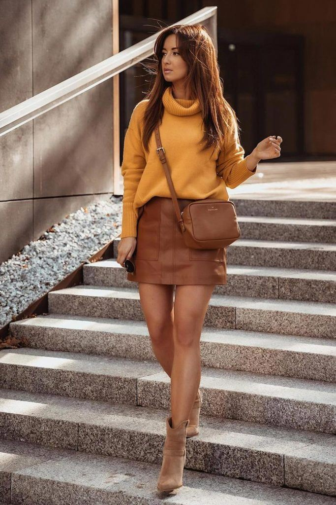 Fall Outfits with Skirt
