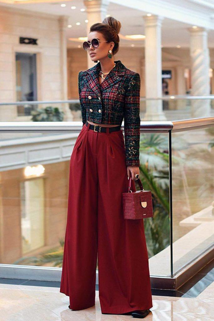 Office Fall Look with Culottes Pants