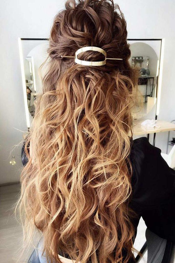 Wavy Half Up Half Down Hair