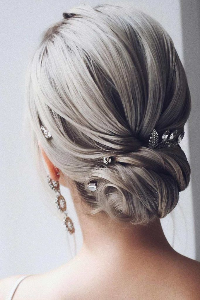 Updo Hair with a Low Bun
