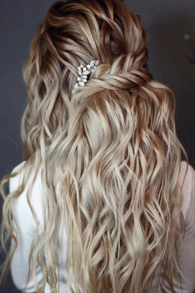 Wavy Half Up Hair