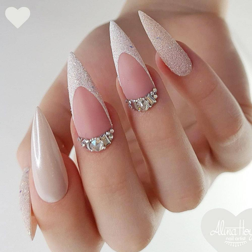Stiletto French Nails