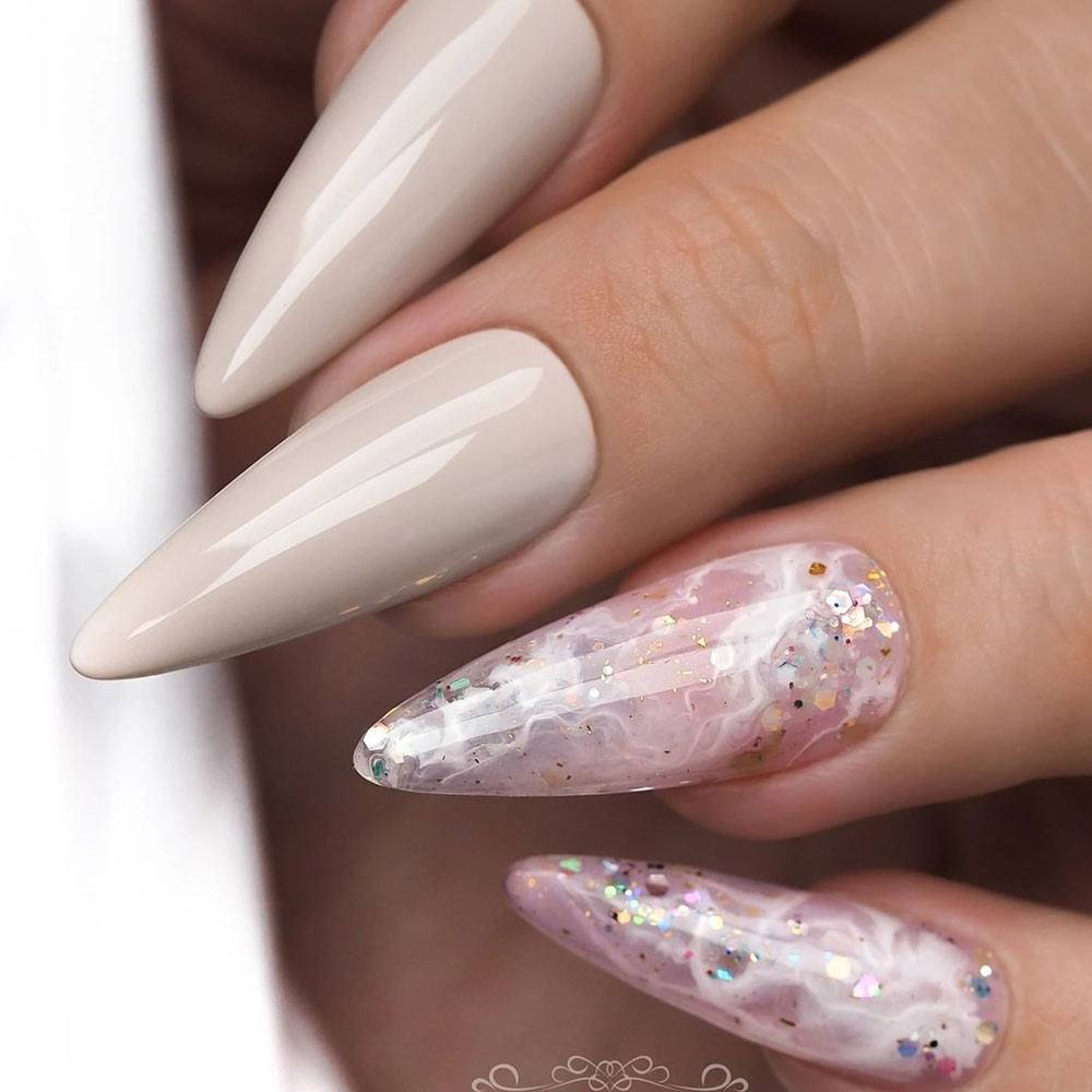 Marble Nails for Homecoming