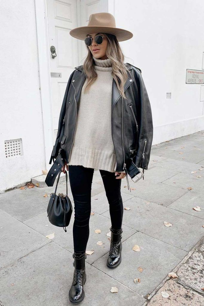 Casual Outfits with Leather Jacket