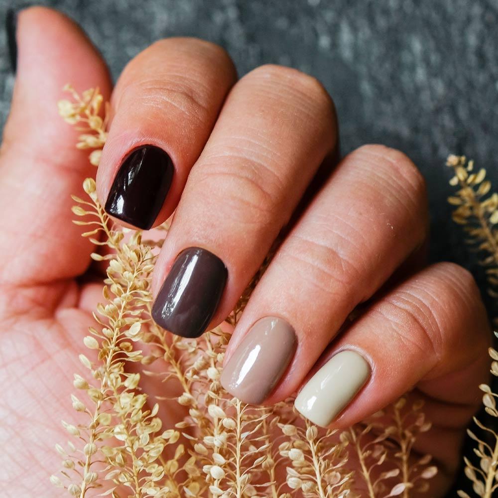 Brown Shades Nails