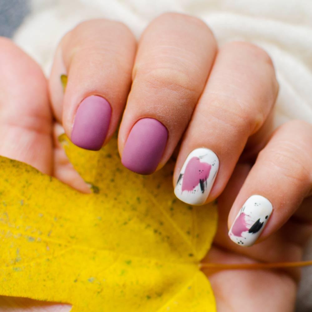 Pink Fall Nails