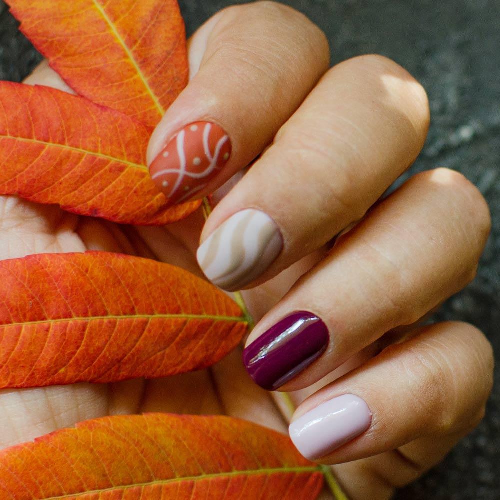Fall Abstract Nails