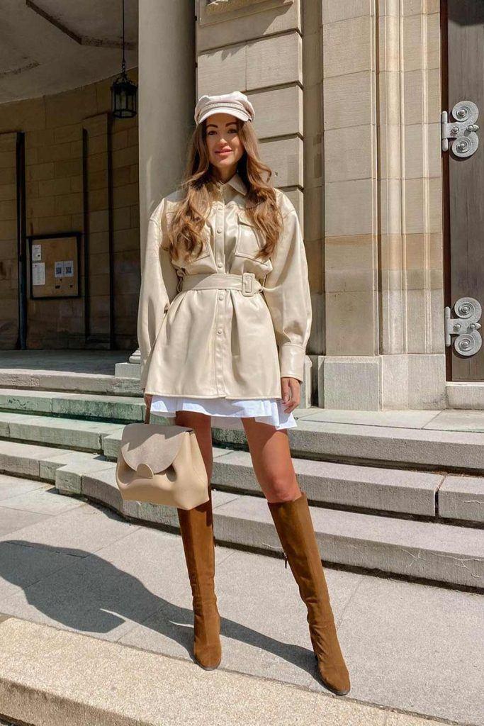 OTK Boots with Dress Coat
