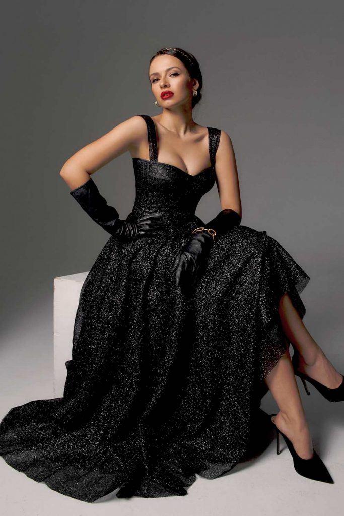 Black Long Homecoming Dress