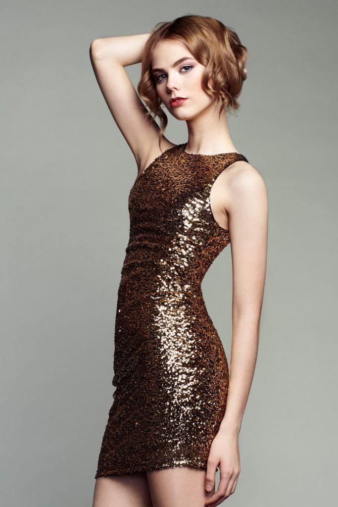 Glitter Bodycon Homecoming Dress